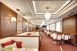 Interierovy dizajn restauracie hotela Hviezdoslav