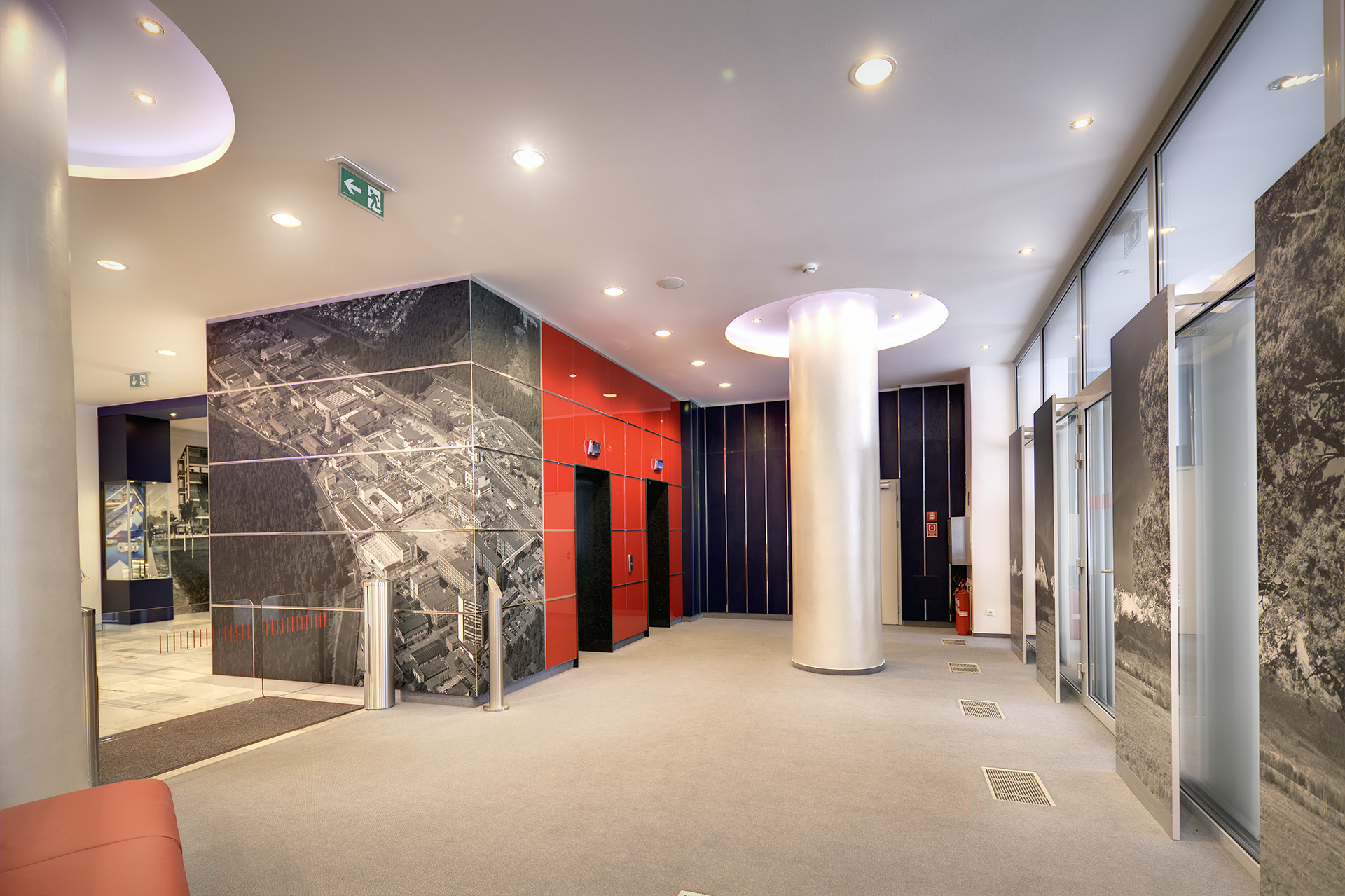 Interiérový dizajn vstupná hala Chemosvit