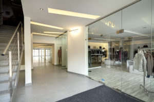 Interiery obchodnych priestorov