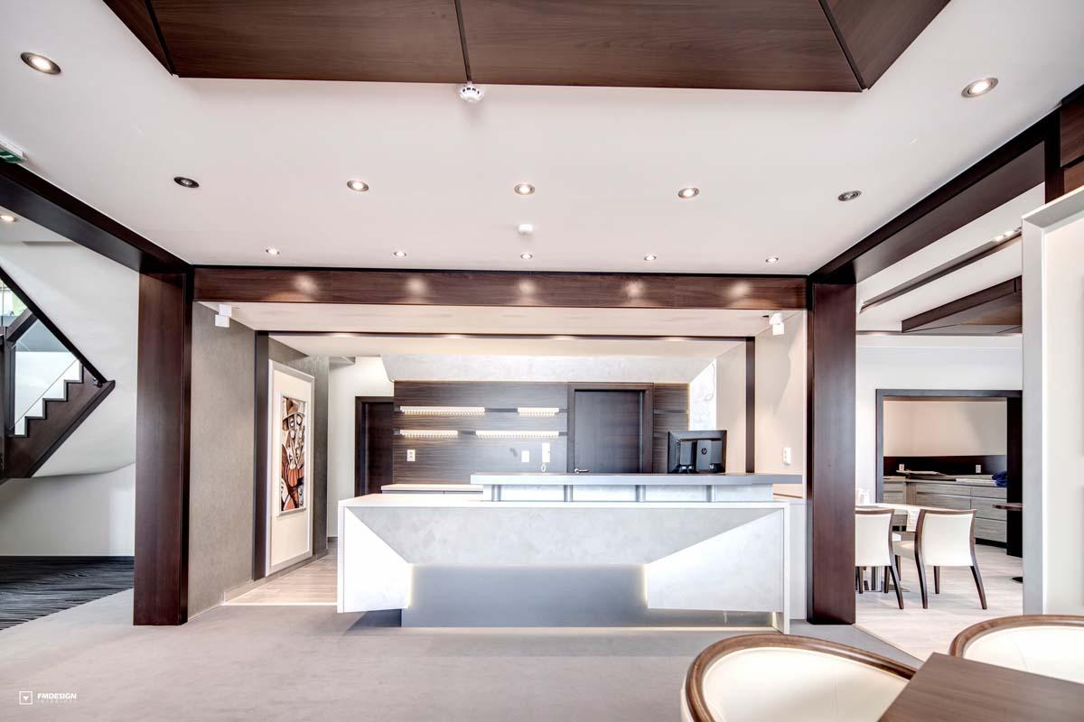Hotel interiors reception
