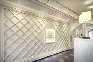 Interierovy dizajn hotelova recepcia