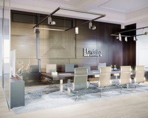 Moderný dizajn interiéru kancelárie
