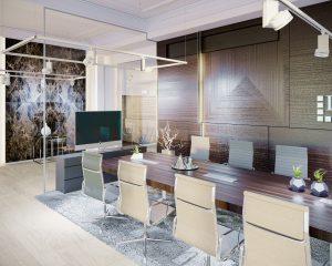 Moderné interiéry kancelária