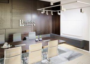 Moderná kancelária dizajn interiéru