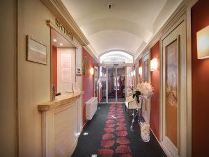 Interiérový dizajn vstupná hala Hotel Hviezdoslav