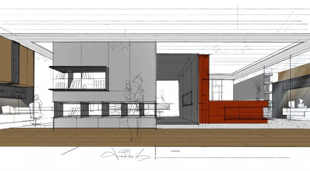 interiérový projekt moderný návrh interiéru