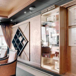 Hotelovy interier cigar bar Hviezdoslav