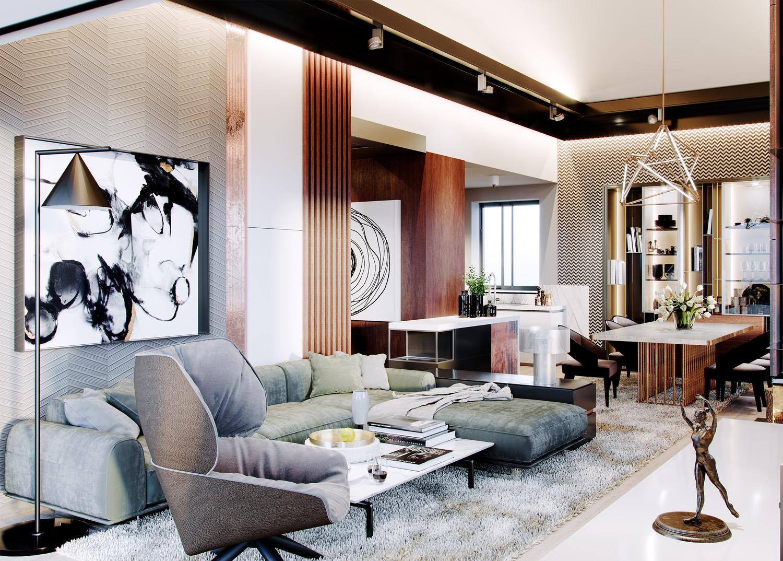 abstraktne umenie luxusny interier