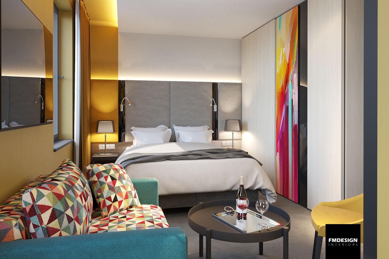 Štýlový dizajn izby Business Deluxe