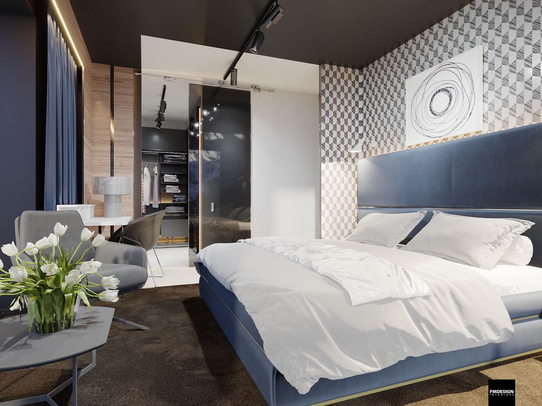 Luxusný interiér spálňa Hrebienok resort