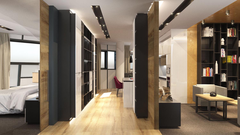 interierovy dizajn mestskeho apartmanu