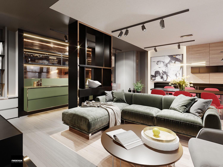 interierovy dizajn luxusny apartman FMDESIGN