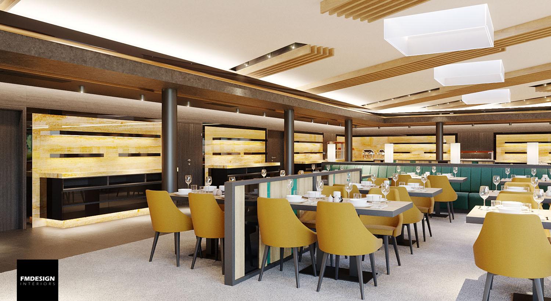 interier hotelovej restauracie deluxe/